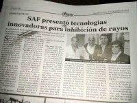 SAF presentó tecnologías innovadoras para la inhibición de rayos